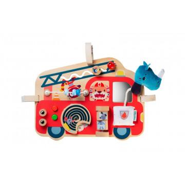Panneau d'activités Camion de pompier Lilliputiens Face 1