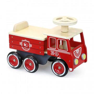 Porteur camion pompiers Vilac