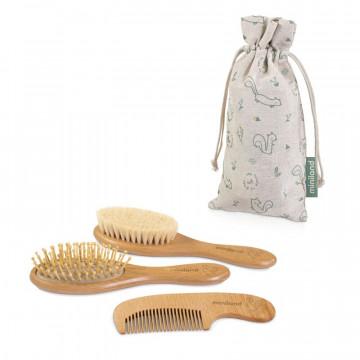 Set de brosses et peigne Natur Haircare Chip Miniland Produit