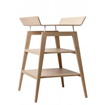 Table à langer avec matelas Linea bois de chêne Leander 1