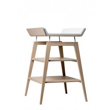 Table à langer avec matelas Linea bois de hêtre naturel Leander 1