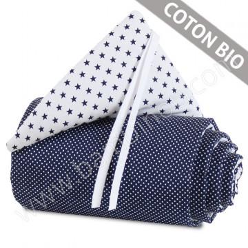 Tour de lit coton organique pour berceaux Cododo Babybay enroulé avec bandeau