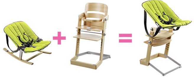 Adaptateur transat Rocco sur chaise Tamino