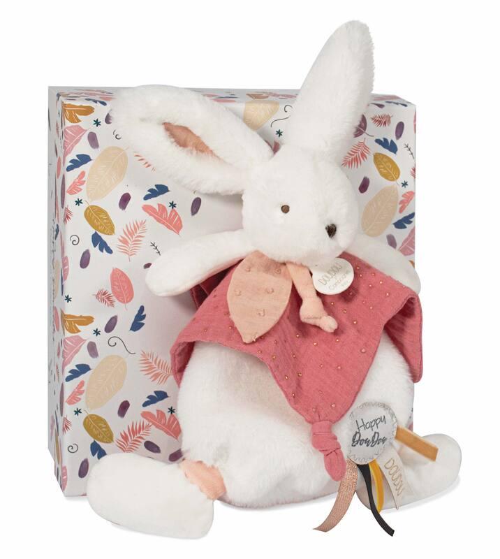 Doudou Happy Wild Pompon Terracotta 25 cm Doudou et Compagnie Packaging