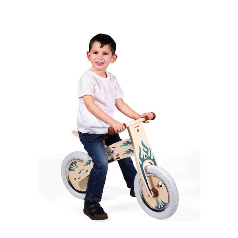 Draisienne Nature personnalisable Janod personnalisée biker club garçon