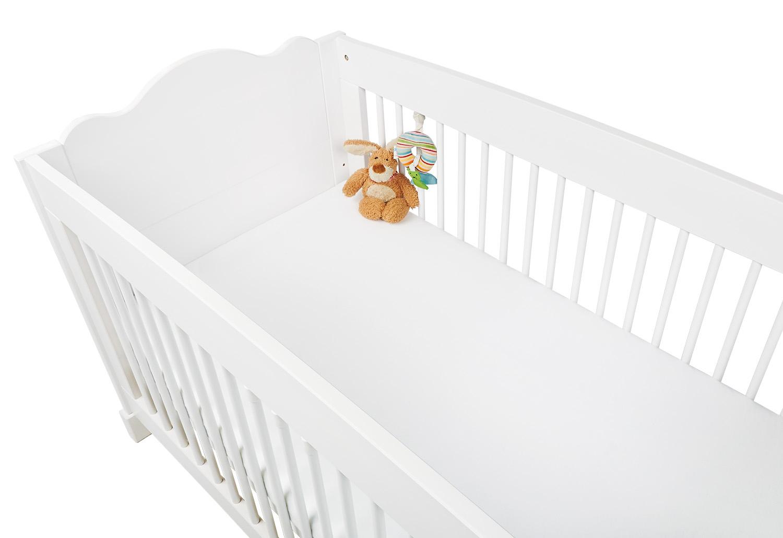 Drap-housse en jersey blanc pour lit bébé