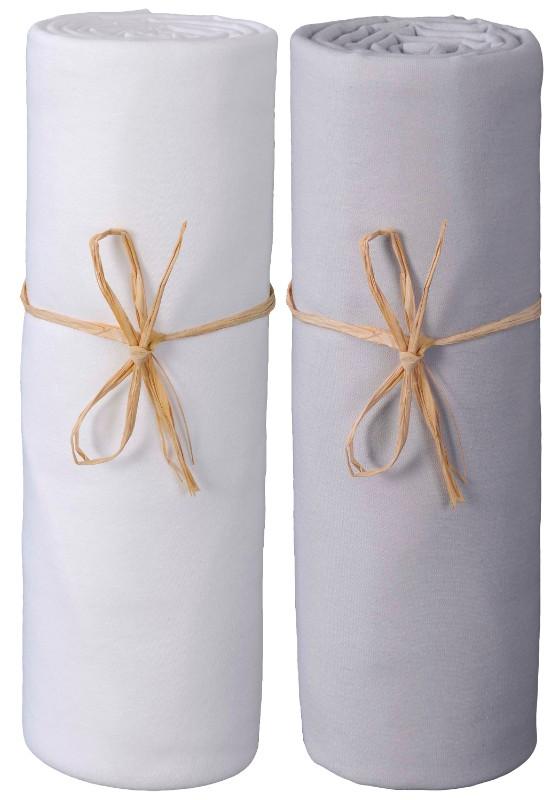 Drap housse blanc gris perle jersey bio-PTE-1