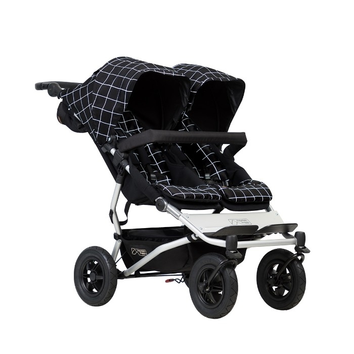 Poussette double Duet V3 Mountain Buggy vue de 3/4