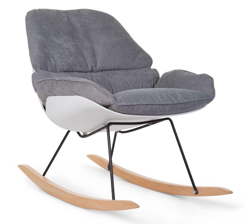 Fauteuil d'allaitement Rocking Chaise Lounge Blanc/Gris Childhome Produit