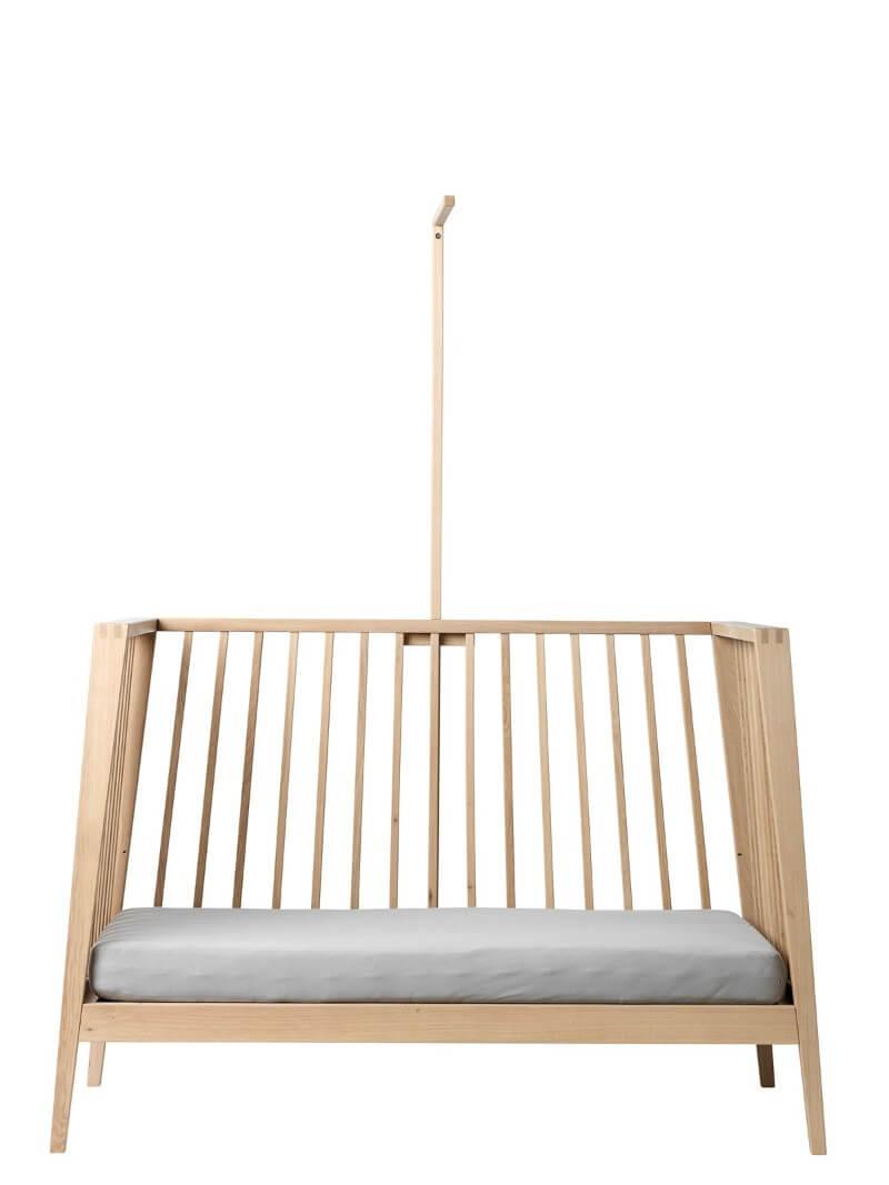 Set lit bébé Linea bois de chêne et flèche de lit Linea Leander 5