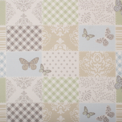 Fond patchwork papillon Geuther