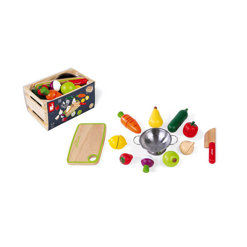 Fruits et Légumes à découper Janod Set complet