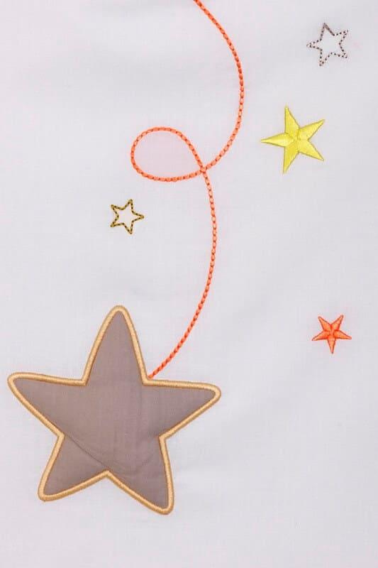 Gigoteuse été Pluie d'étoiles Gris perle Ptit Basile 2