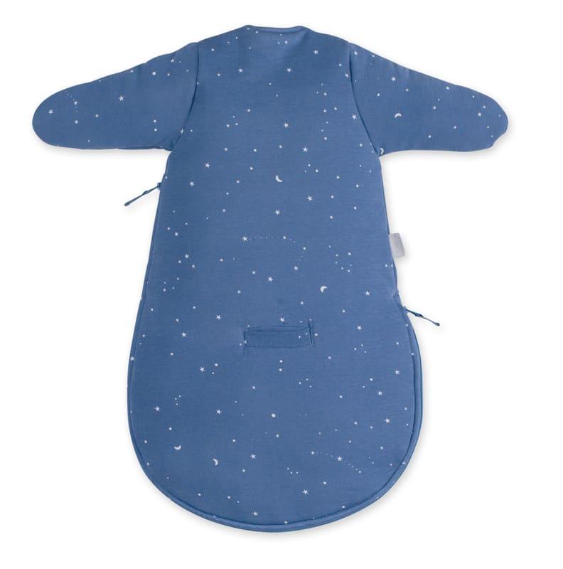 Gigoteuse hiver Magic Bag Pady Jersey Étoiles bleu denim Bemini Détail