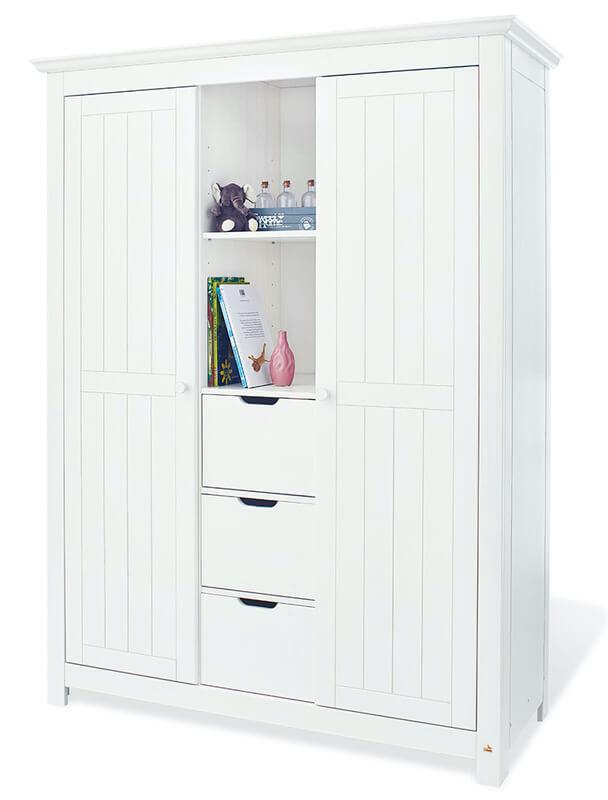 Chambre bébé Nina blanc: Lit, commode, armoire Pinolino Armoire