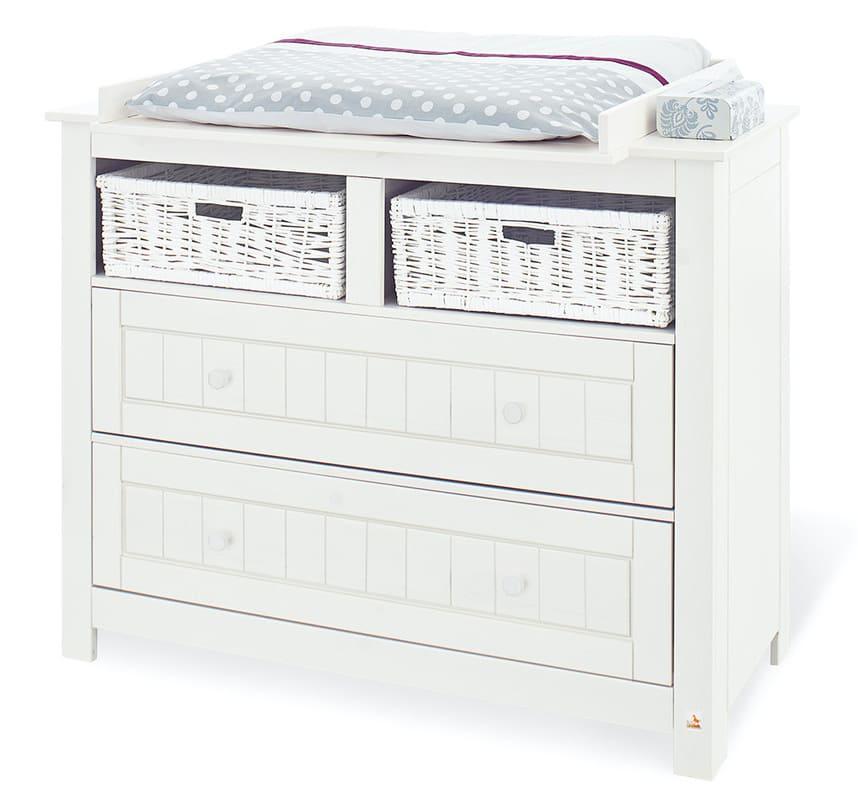 Chambre bébé Nina blanc: Lit, commode, armoire Pinolino Accessoires