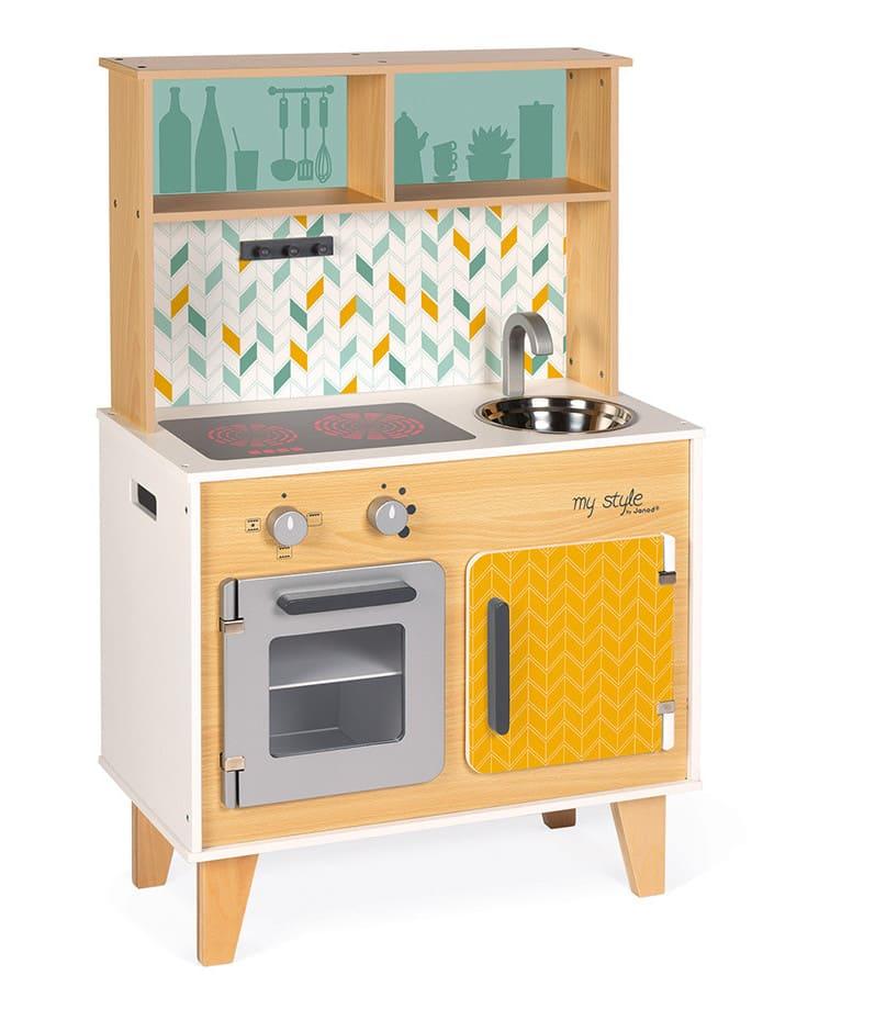 Grande cuisine MyStyle en bois personnalisable avec stickers Janod 2