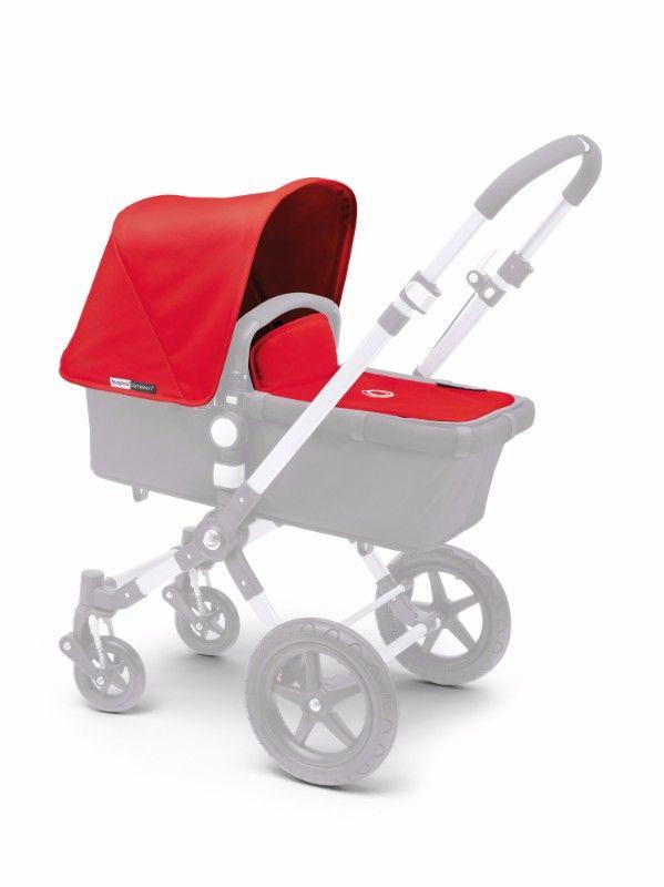 Habillage complémentaire poussette : capote tablier Cameleon 3 rouge Bugaboo Bambinou