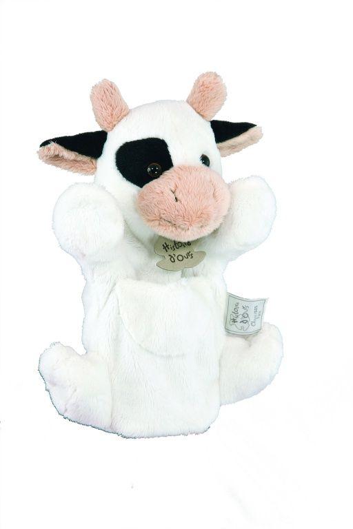 Marionnette vache blanche - Histoire d'Ours - Bambinou