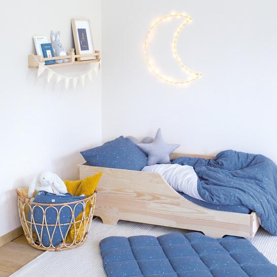 Housse de lit réversible en jersey 100 x 140 cm Ambiance