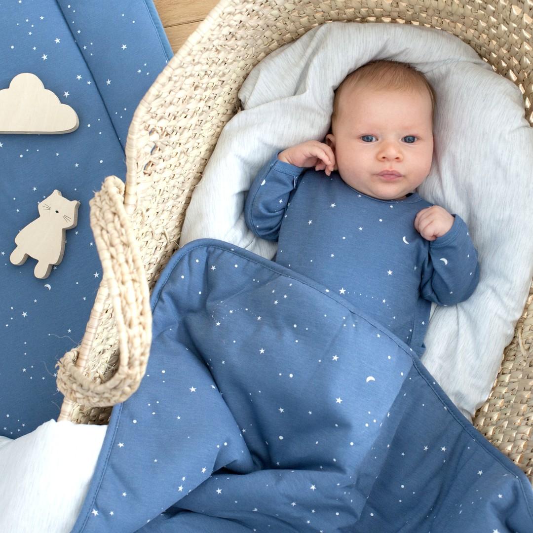 Housse de lit réversible en jersey 100 x 140 cm Enfant