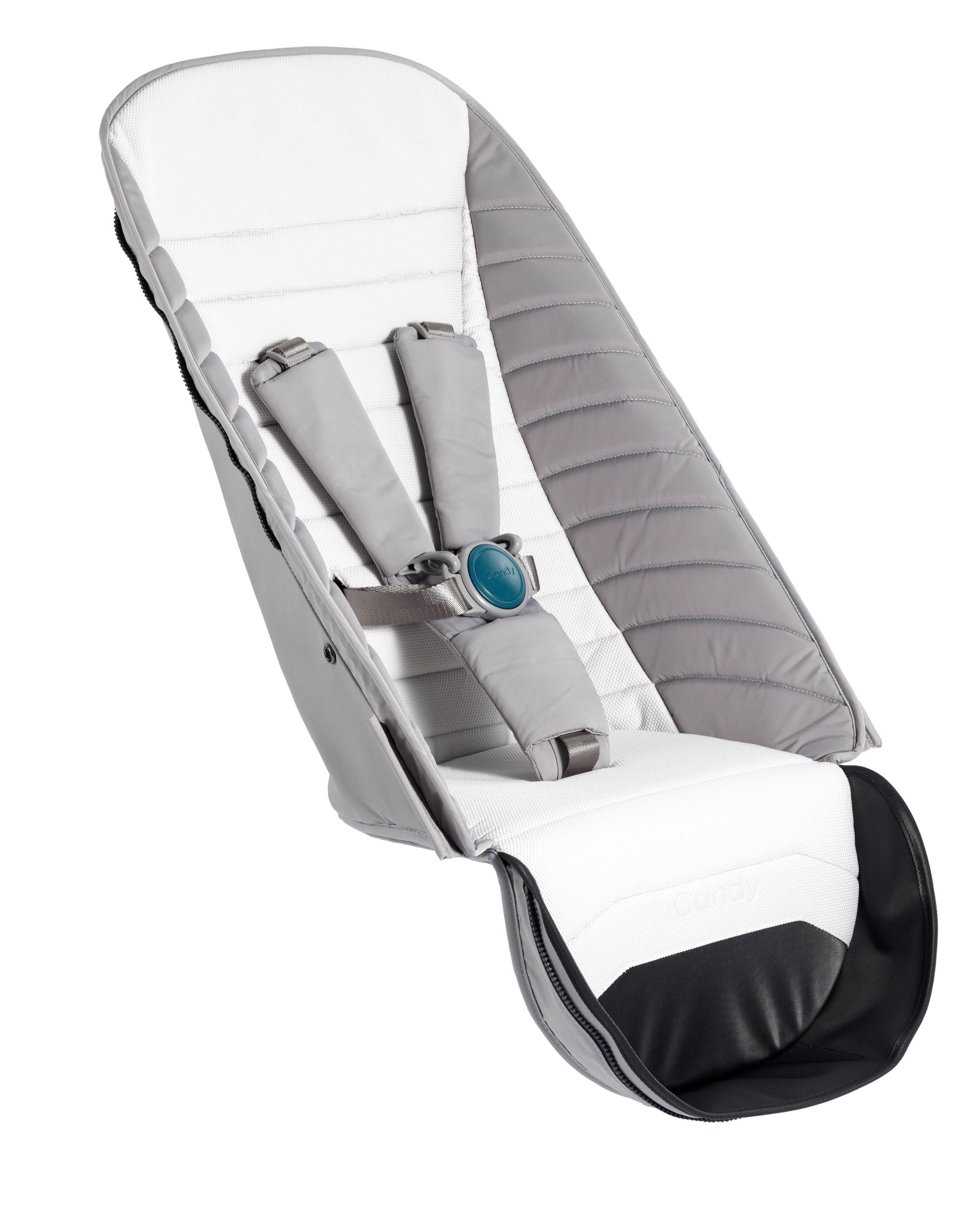 Habillage pour siège supplémentaire poussette Peach Dove Grey