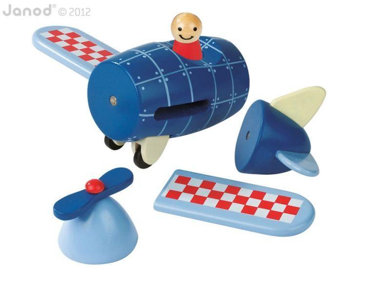 Kit magnétique avion Janod pièces