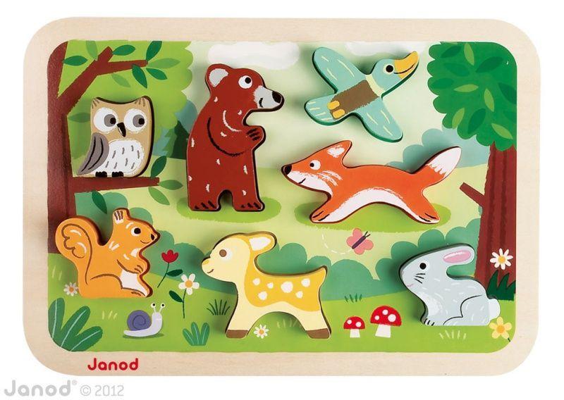 Puzzle en bois Chunky Forêt