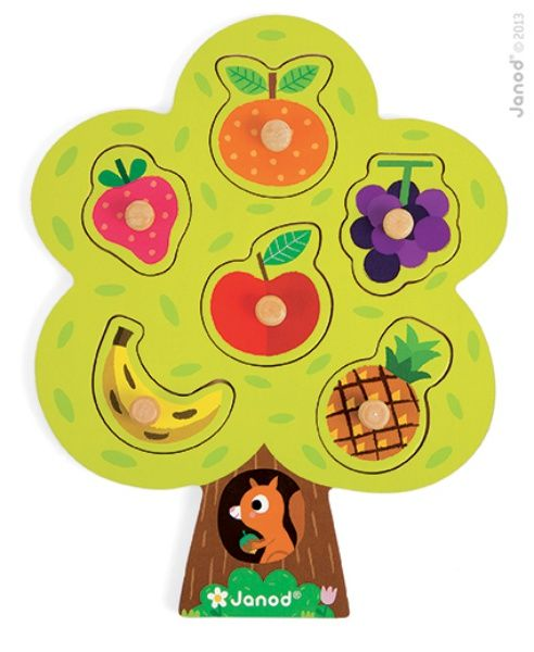 Puzzle en bois arbre gourmand Janod