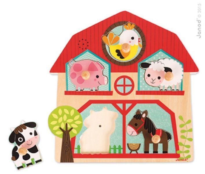 Puzzle musical les copain de la ferme Janod