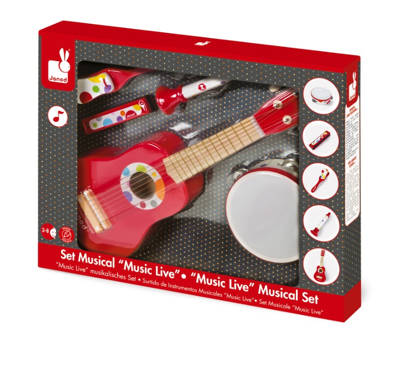 Set musical confetti music live dans sa boîte