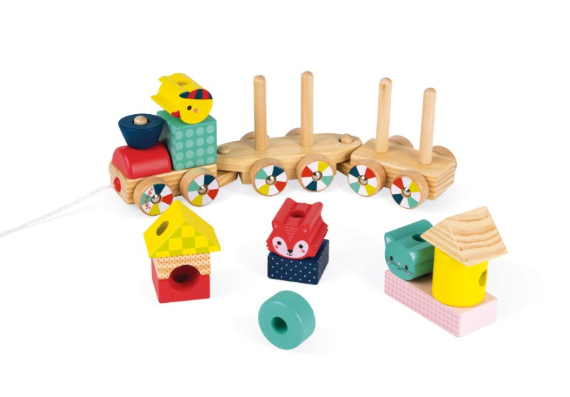 train baby forest Janod wagons vides