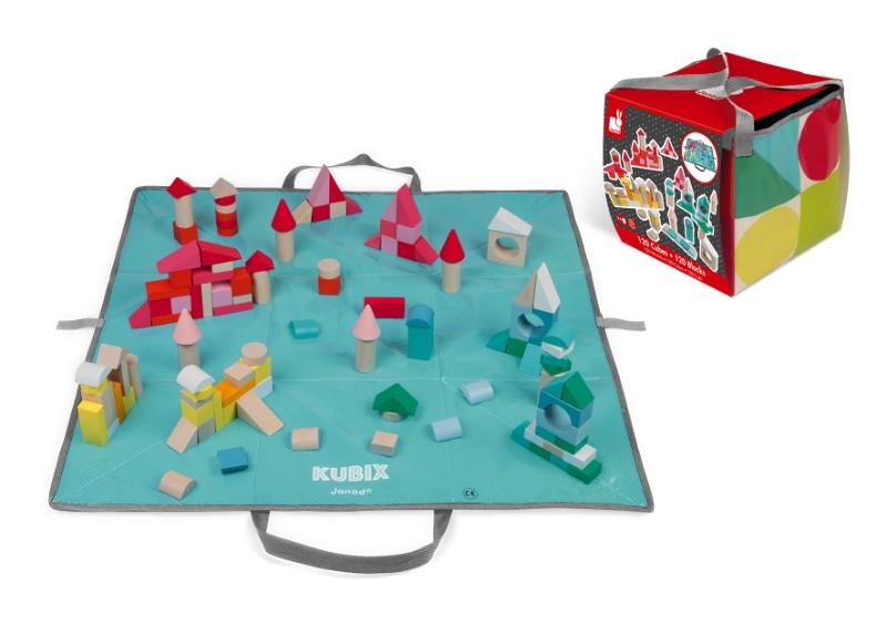boite 120 cubes kubix Janod avec boîte