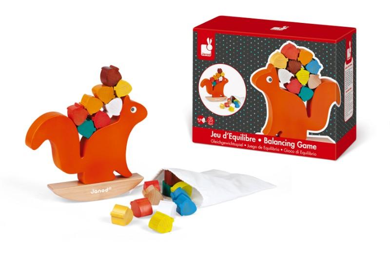 jeu equilibre nutty balance Janod avec boîte