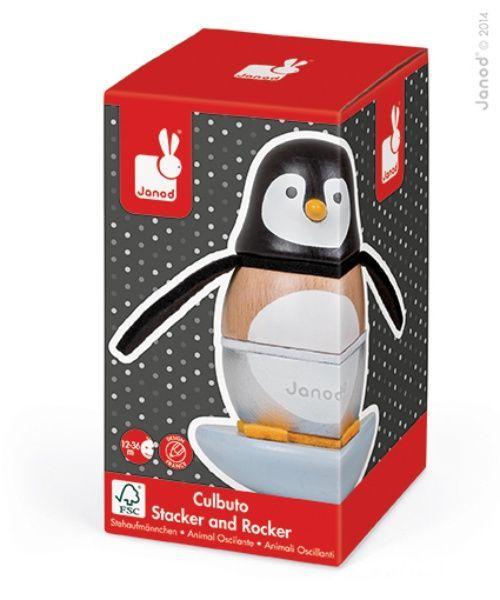 Culbuto pingouin en bois et feutrine zigolos Janod