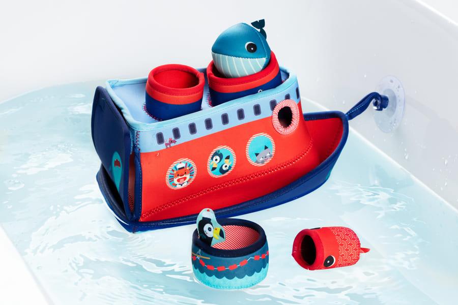 Jouet de bain le navire de Marius Lilliputiens Côté