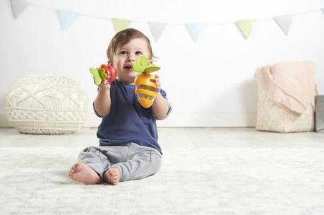 Jouet d'éveil hochet set carotte et fraise Tiny Love Bébé