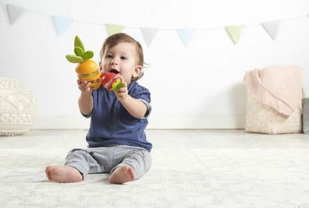 Jouet d'éveil hochet set carotte et fraise Tiny Love Enfant