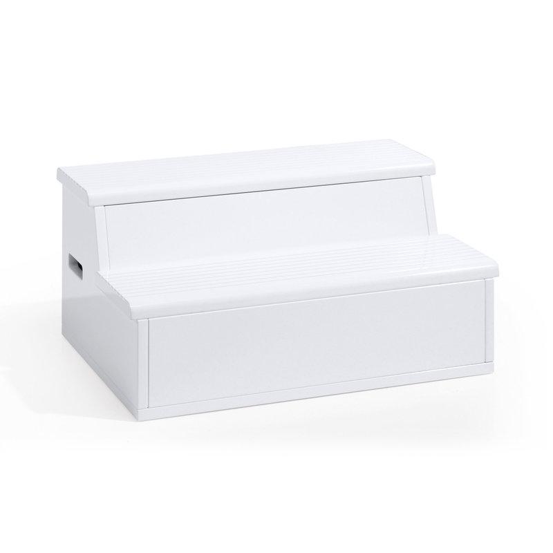 Escalier-coffre à jouet pour lit transformable Blanc Mat Alondra