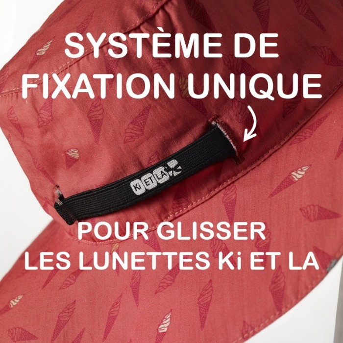 Chapeau KAPEL anti-UV réversible Ice Kream Ki ET LA système de fixation lunettes