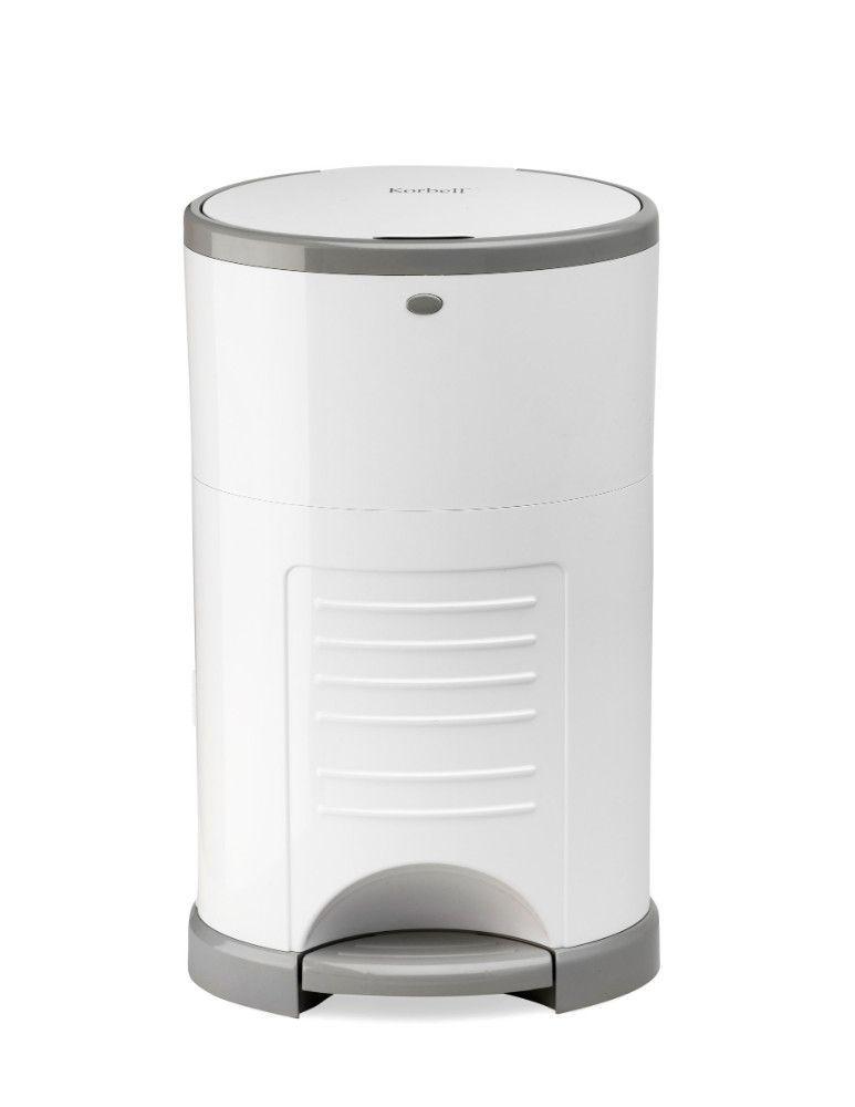 Pack poubelle à couches anti-odeurs 9L + 3 recharges Korbell de face