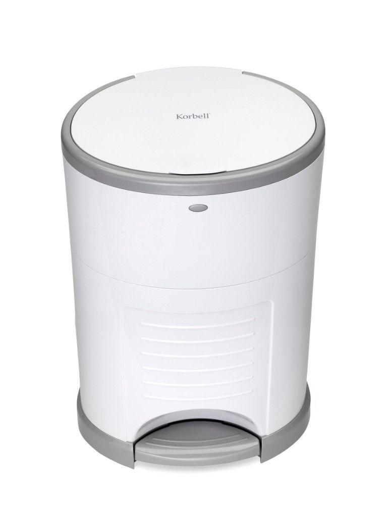 Pack poubelle à couches anti-odeurs 26L + 3 recharges Korbell de face