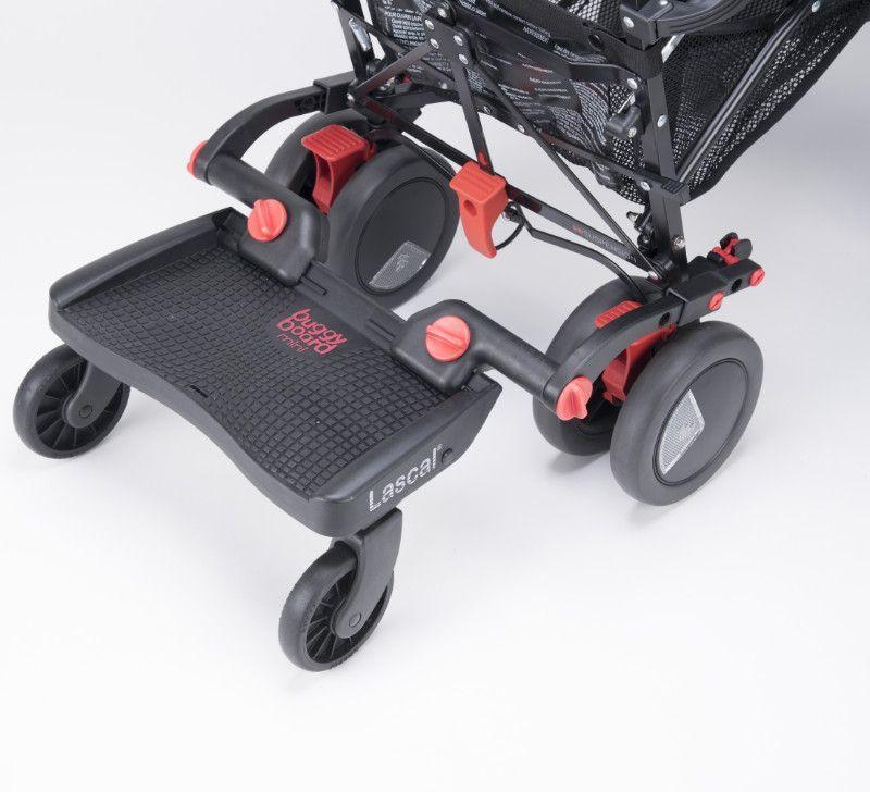 Planche a roulettes poussette BuggyBoard Mini noir rouge Lascal BamBinou