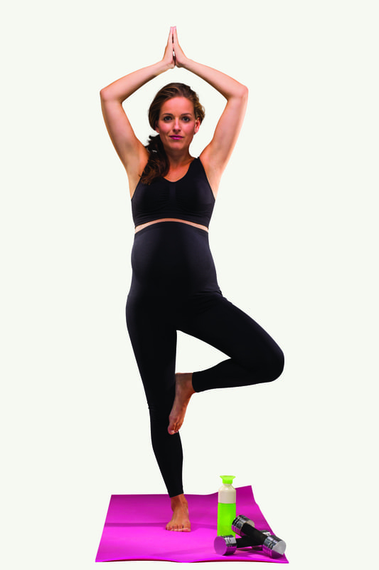Legging de grossesse soutien et confort Noir Carriwell Yoga