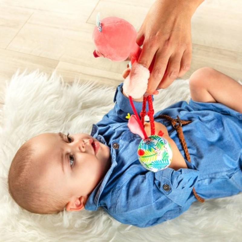 Marionnette main Anais flamand rose Enfant Lilliputiens Bambinou