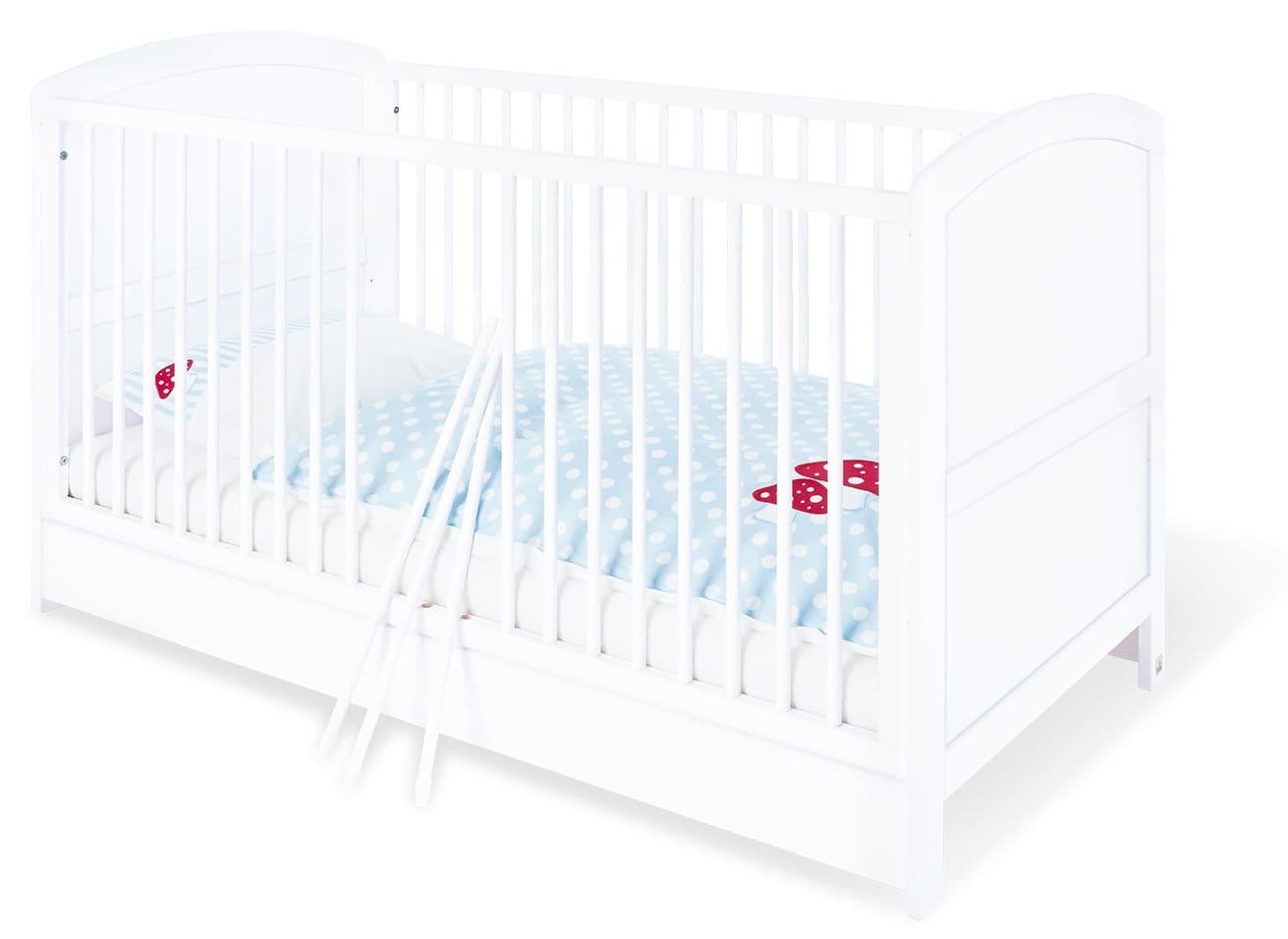 Lit bébé évolutif Laura bois blanc 70 x 140 Pinolino Produit