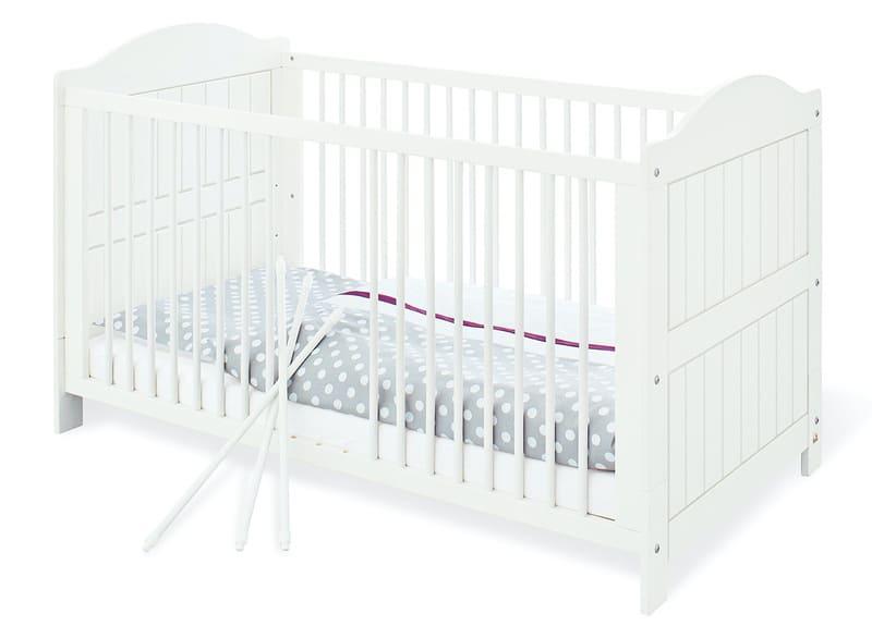 Lit bébé évolutif Nina blanc bois massif 70 x 140 Pinolino Produit