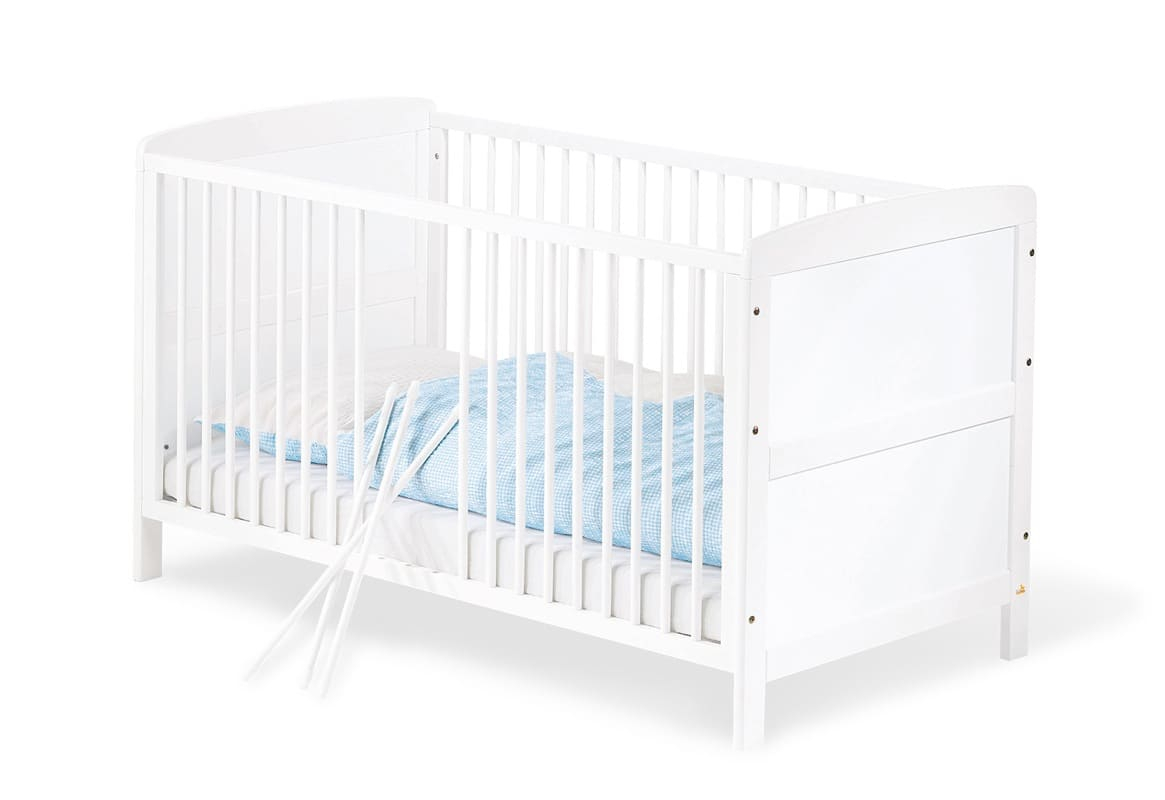 Chambre bébé Victoria breit blanc Lit, commode, armoire Pinolino Lit