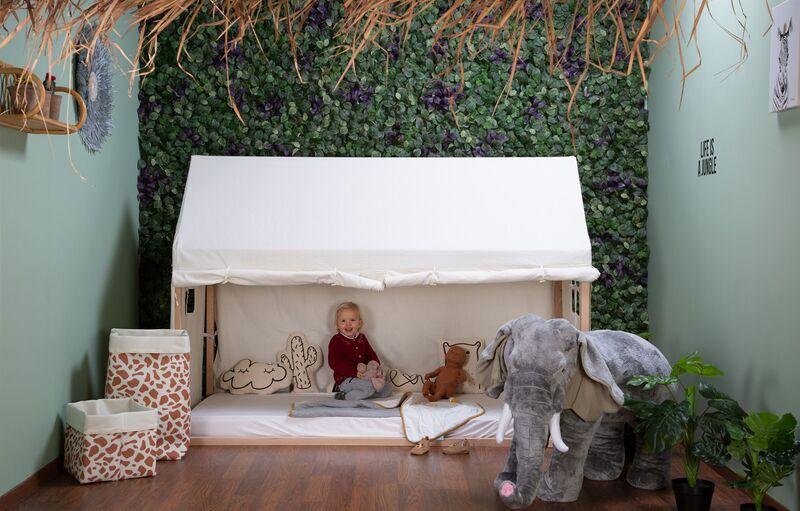 Lit enfant Cabane 90 x 200 cm Naturel Childhome Enfant