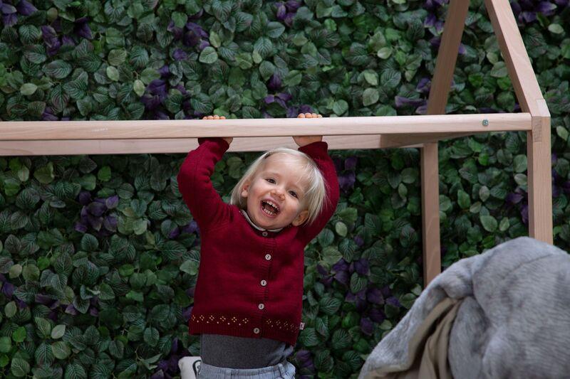 Lit enfant Cabane 90 x 200 cm Naturel Childhome Jeu